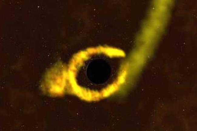 NASA Yıldız Yutan Bir Kara Delik Gözlemledi !